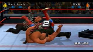 "(PS2) WWE Smackdown vs RAW 2006 ""TLC"" Gameplay Online (Kurt Angle vs Rob Van Dam) [08/11/2013]"