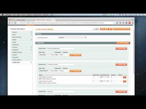 Magento - How to add a bundle product