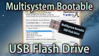 How to Make/Create USB Flash Drive Bootable (MultiSystem Pendrivelinux) Multiboot Pendrive Yumi