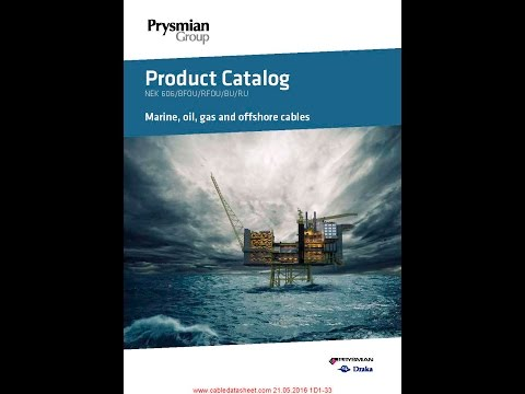 Prysmian Group Marine, oil, gas and offshore cables