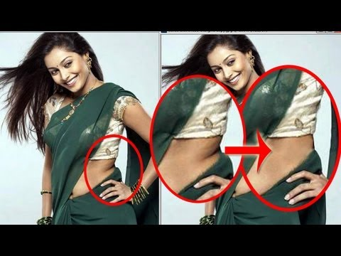how to get rid of belly fat in photoshop