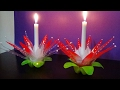 DIY - How To Make A Candle/Light Stand With Waste Plastic Bottles   Best Use Of Waste  