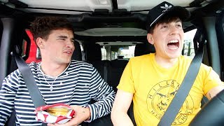 HE DESTROYS MY NEW CAR!! (CAR RIDES with BOBBY AND KIAN)