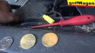 VW Golf 5 how removal front seat /how to make money on youtube/