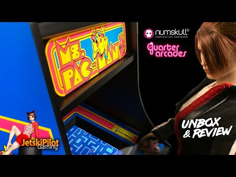 Numskull Ms. Pac Man Quarter Scale Arcade Cabinet | Unboxing And Review