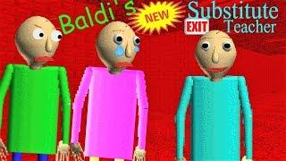 THERE IS A NEW SUBSTITUTE TEACHER!! | Baldi's Basics MOD: Baldi's Substitute 2.0