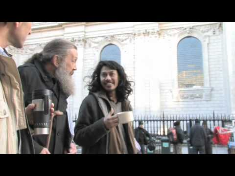 Alan Moore visits Occupy LSX