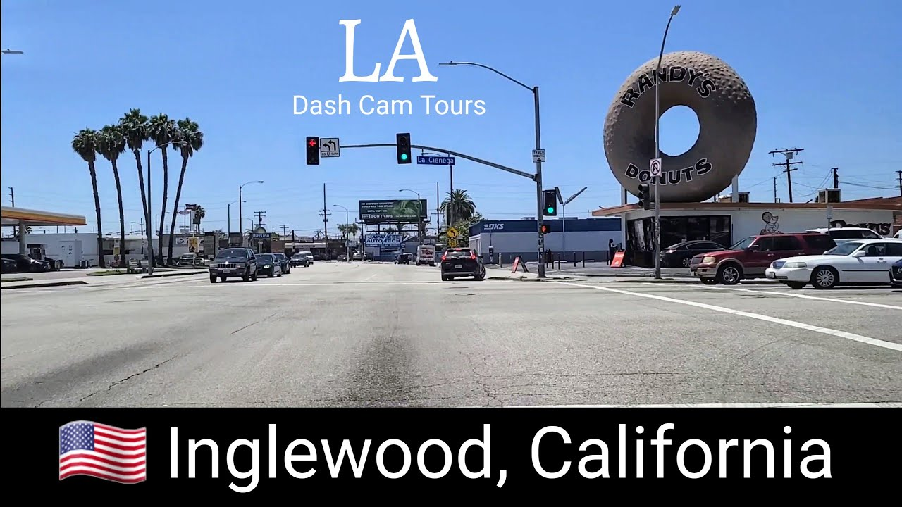 Driving Tour of Inglewood,  California, Home of LA Clippers,  Rams & Chargers. Dash Cam Tours