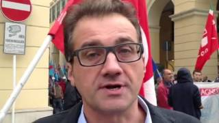 Federico Vesigna (Segretario Regionale CGIL) sciopero gener