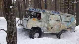 UAZ-452 1KZ-TE with volvo portal axles