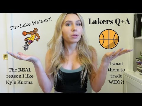 Trades, Firing Coaches, and Im Obsessed With Kyle Kuzma?! - LAKERS Q&A