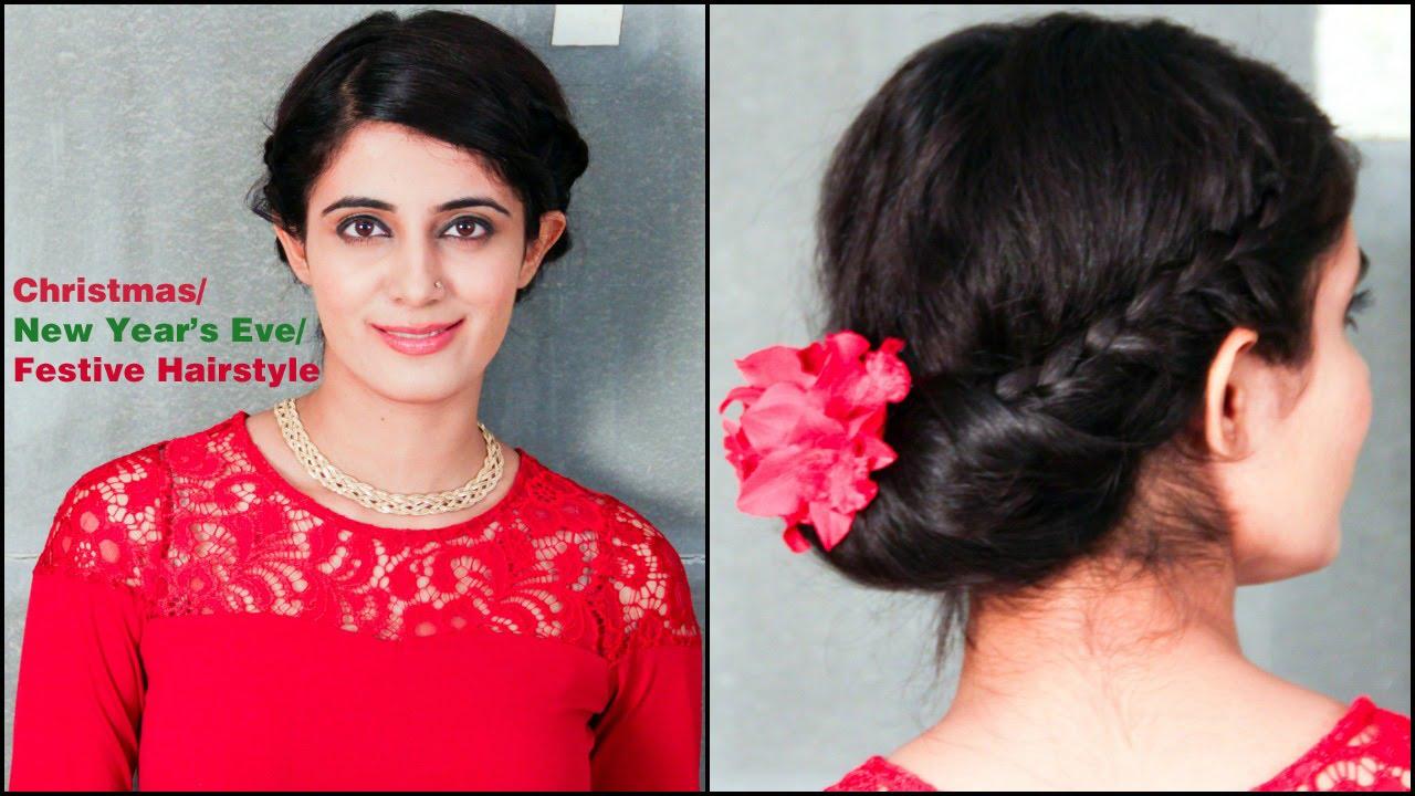 Fomo Christmasnew Years Evefestive Hairstyle Hindi Youtube