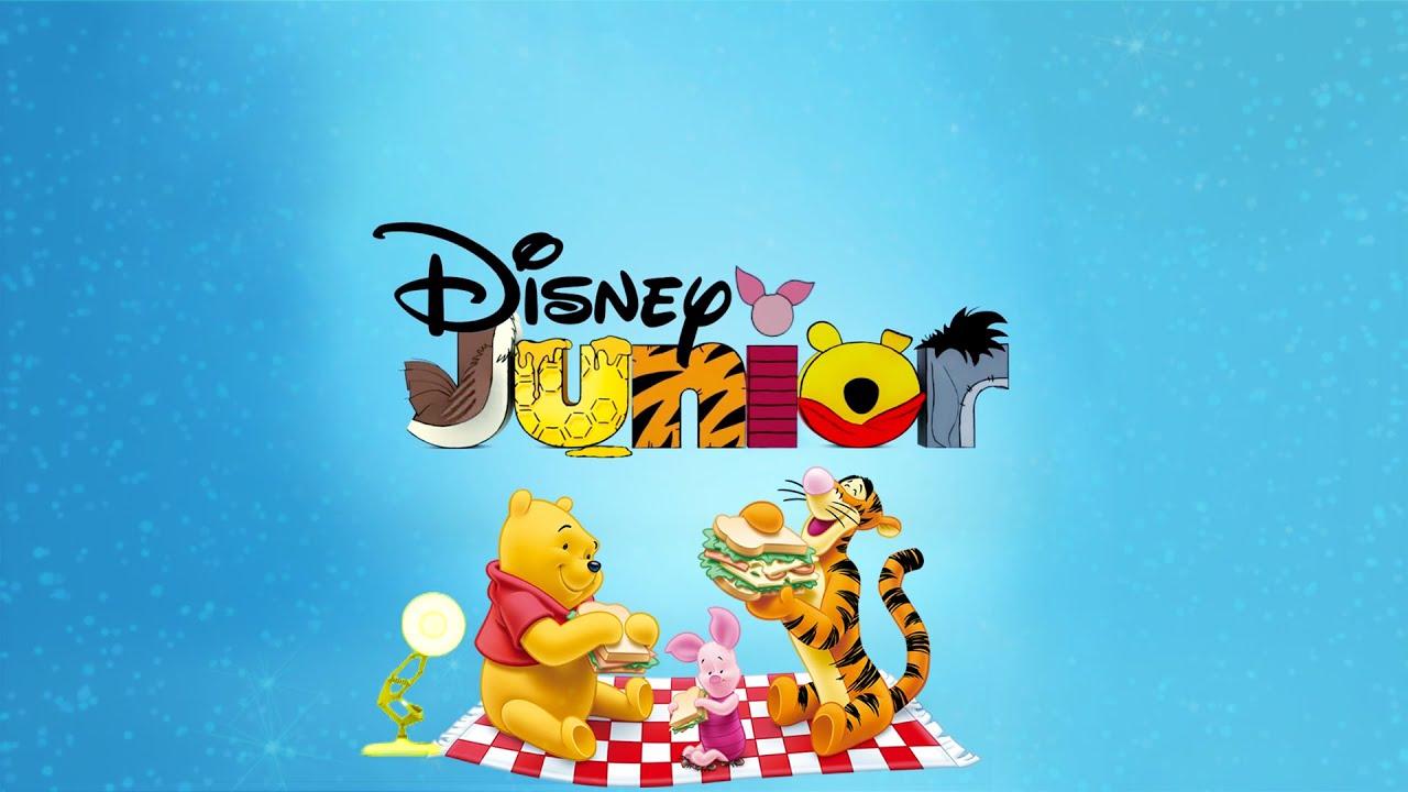 1825-Disney Junior Logo With Winnie the Pooh Vol 2 Spoof Pixar Lamp Luxo Jr