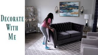 💙Glam Home💙  DECORATE WITH ME | DECLUTTERING MY LIVING ROOM | SELLING STUFF AROUND THE HOUSE