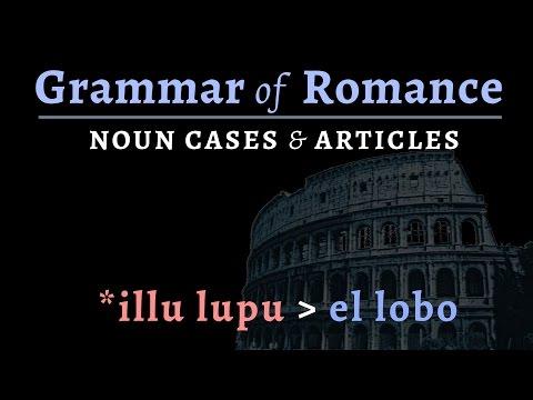 Romance Languages: noun cases & articles