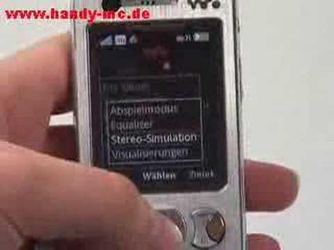 Sony-Ericsson W890i Musikplayer