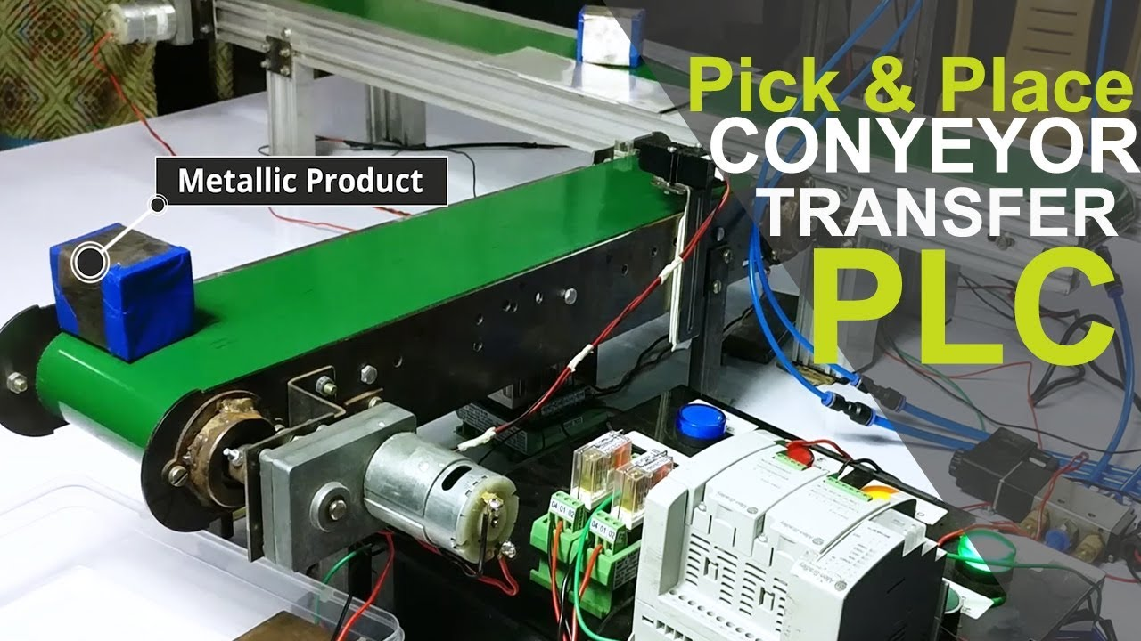 PLC based Pick and Place Automation System Conveyor Transfer