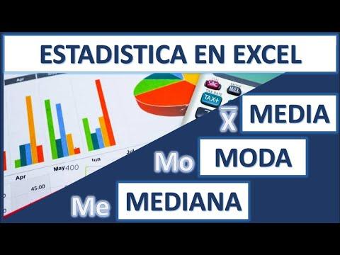 Como Calcular La MODA, MEDIA Y La MEDIANA En Excel Fácil Y Rápido
