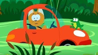 Мультфильм про машинки – Котенок и волшебный гараж – Приключения в болоте - Для самых маленьких