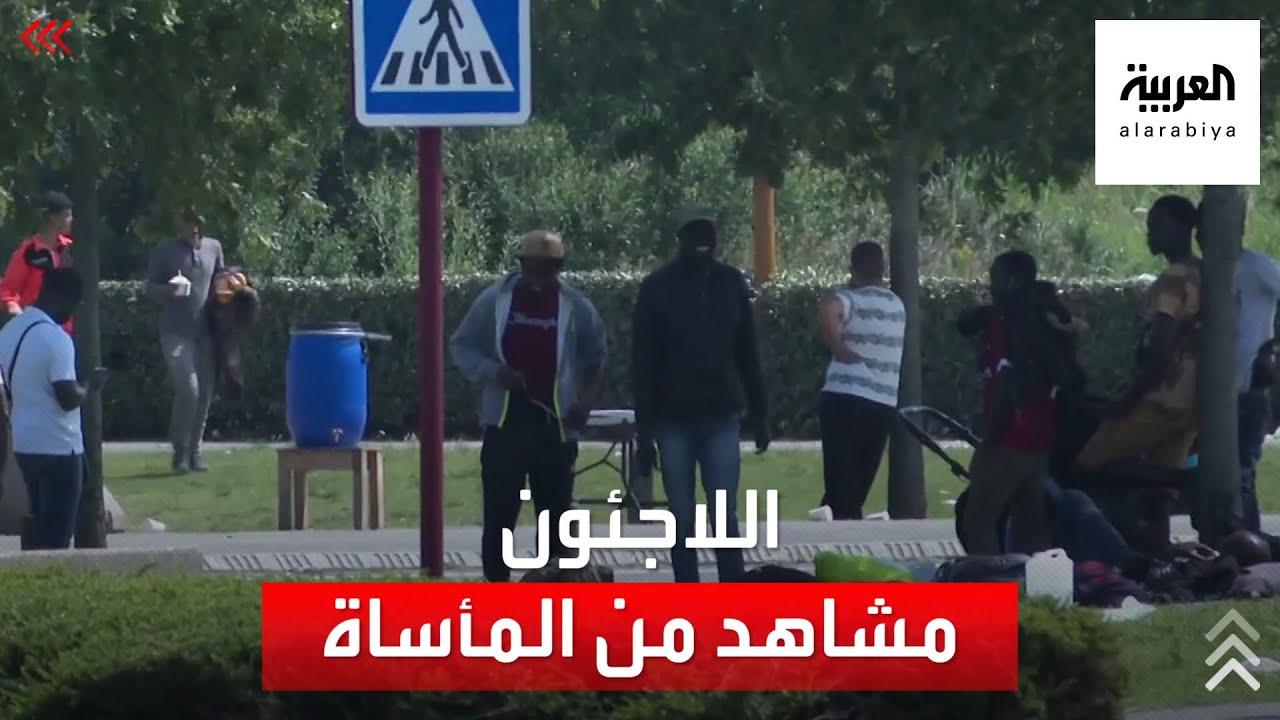 مشاهد من مأساة اللاجئين على حدود فرنسا وبريطانيا  - 01:55-2021 / 7 / 23