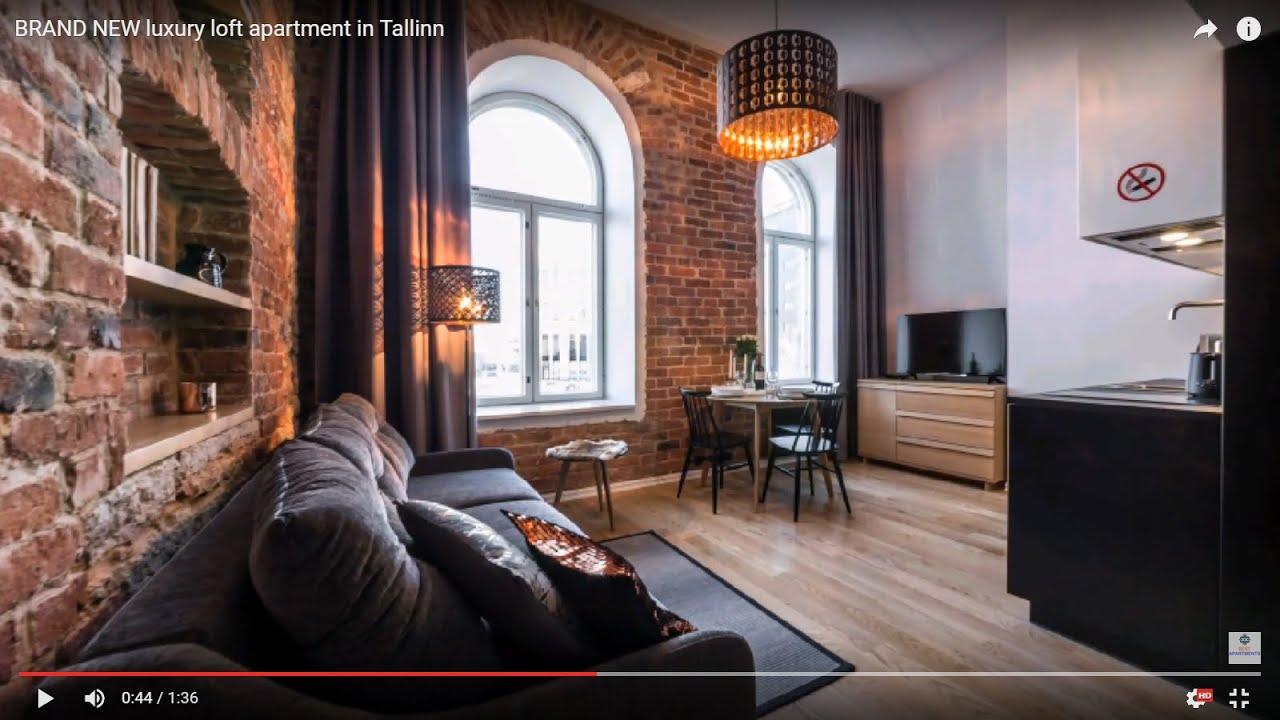 Luxury Loft Apartment In Tallinn Youtube