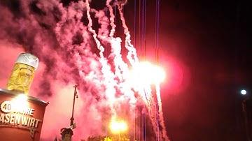 Feuerwerk auf dem Cannstatter Wasen am 13. Oktober 2019