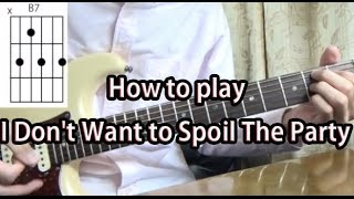 How to play I Don