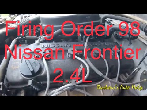 Firing Order and Cylinder Identification 98 Nissan Frontier 24L  YouTube