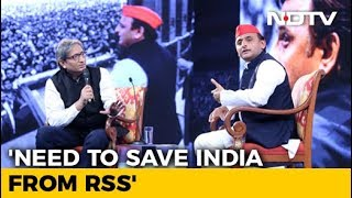 NDTV Yuva Conclave: Need To Save India From RSS, Says Akhilesh Yadav