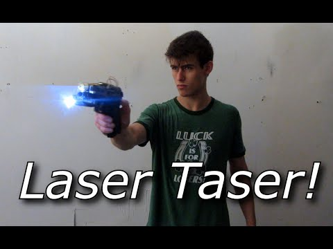 My Homemade 'Laser Taser' Pistol with pulsed YAG laser and High Voltage Head!!!
