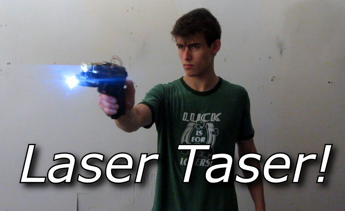 Xrep A Combination Of Taser And Shotgun My Homemade Laser Pistol With Pulsed Yag High Voltage Head Youtube