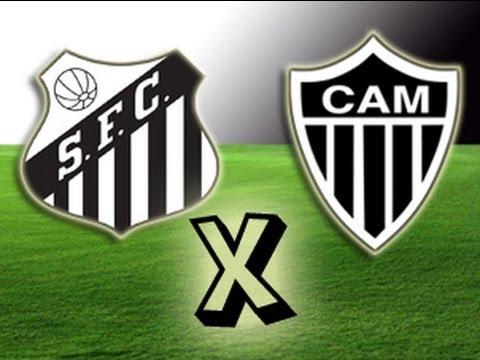 Santos 1 x 0  Atlético MG - Brasileirão 12/06/2013 - Jogo Completo