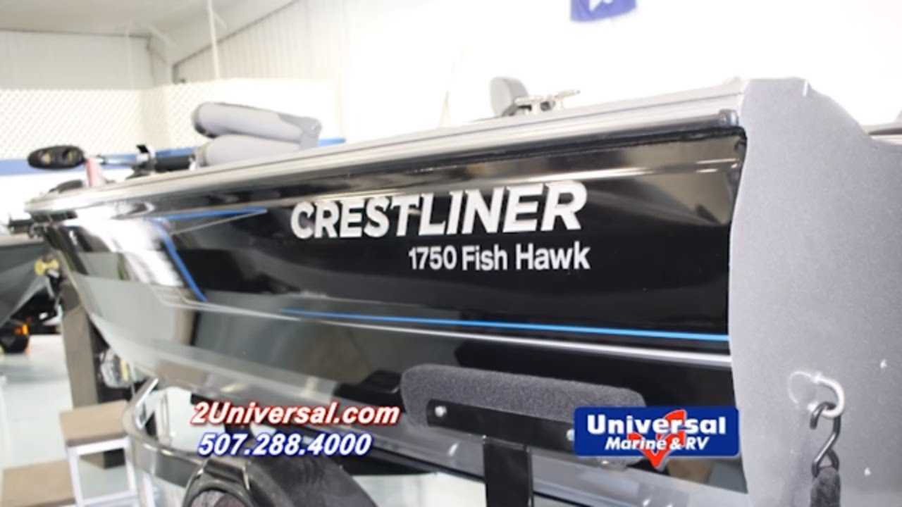 2016 crestliner 1750 fish hawk fishing boat for sale for Fishing boats for sale mn