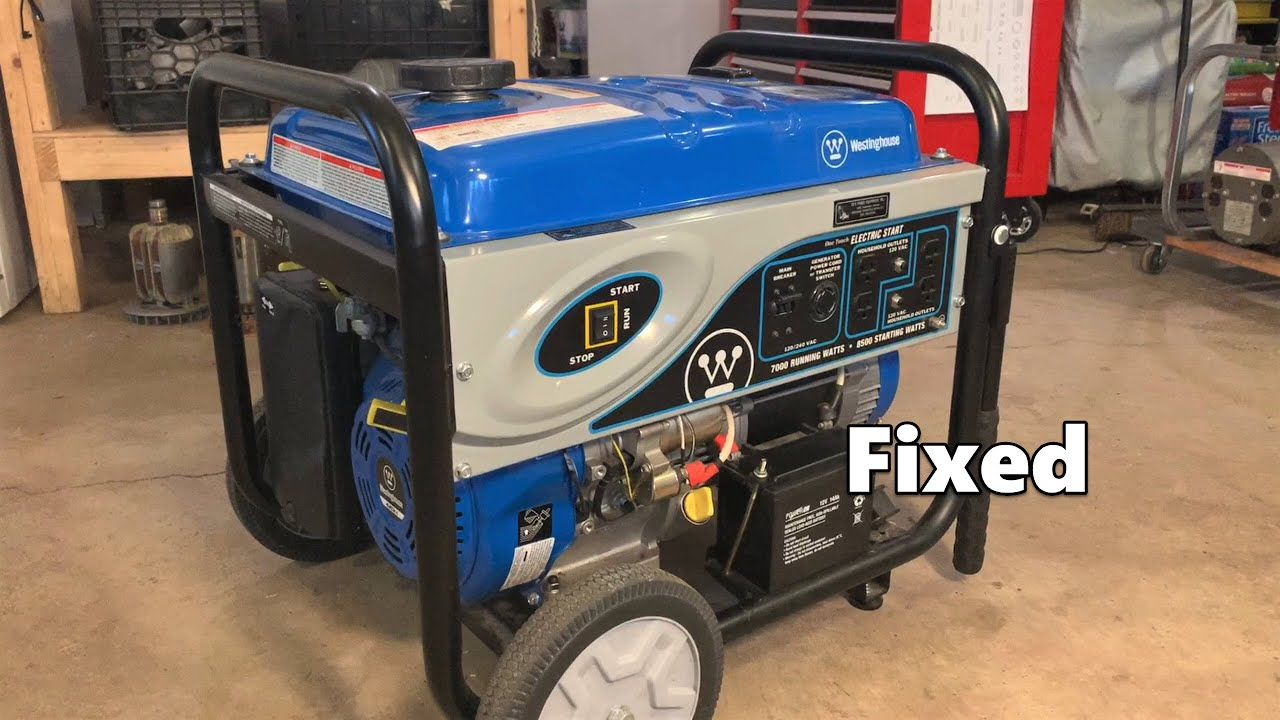 Westinghouse Generator Will Not Start - Rusted Gas Tank - Carburetor Cleaning