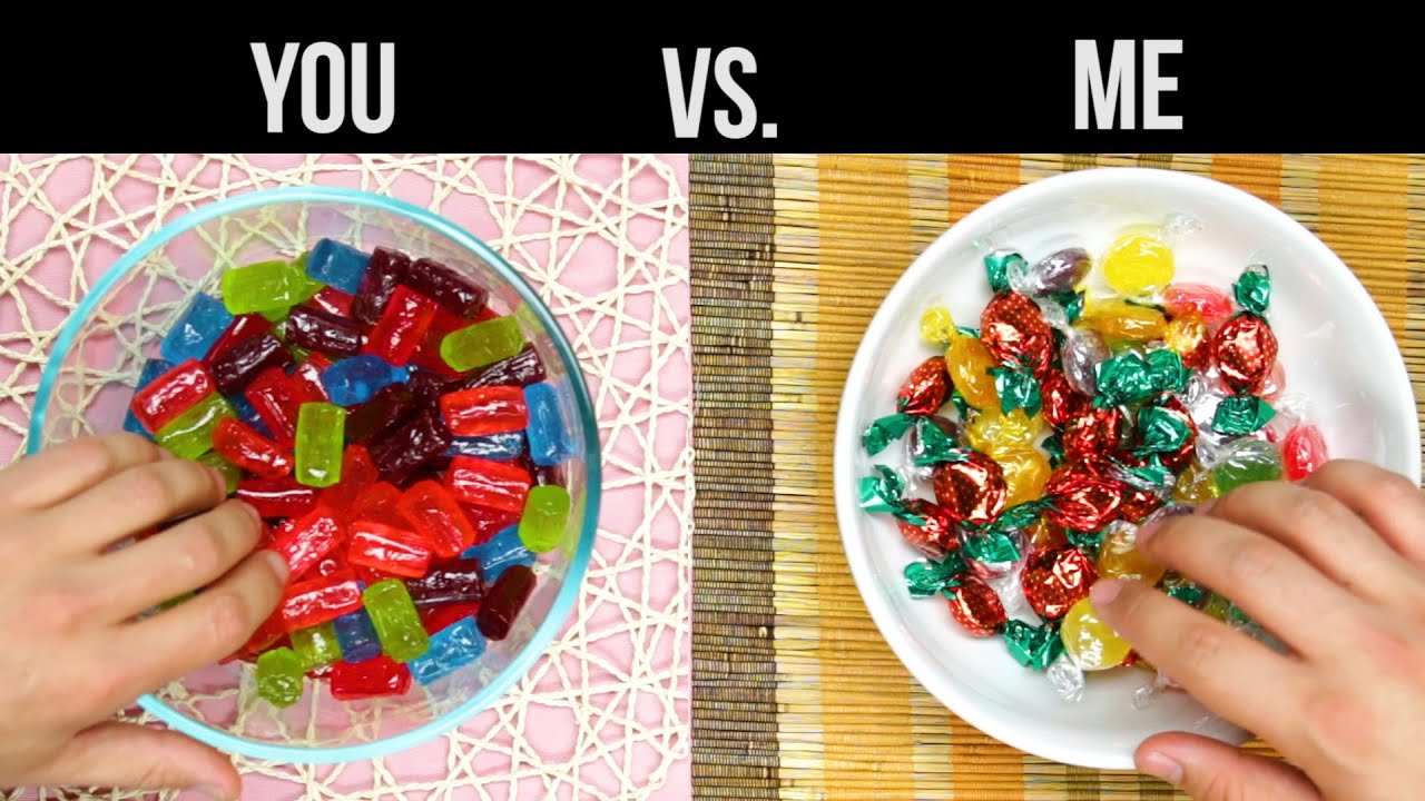 you vs me candy