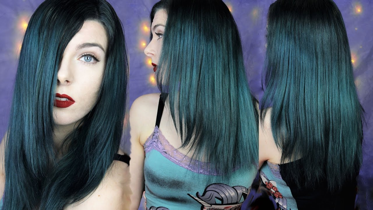 dark metallic smokey turquoise hair tutorial haare t nen. Black Bedroom Furniture Sets. Home Design Ideas
