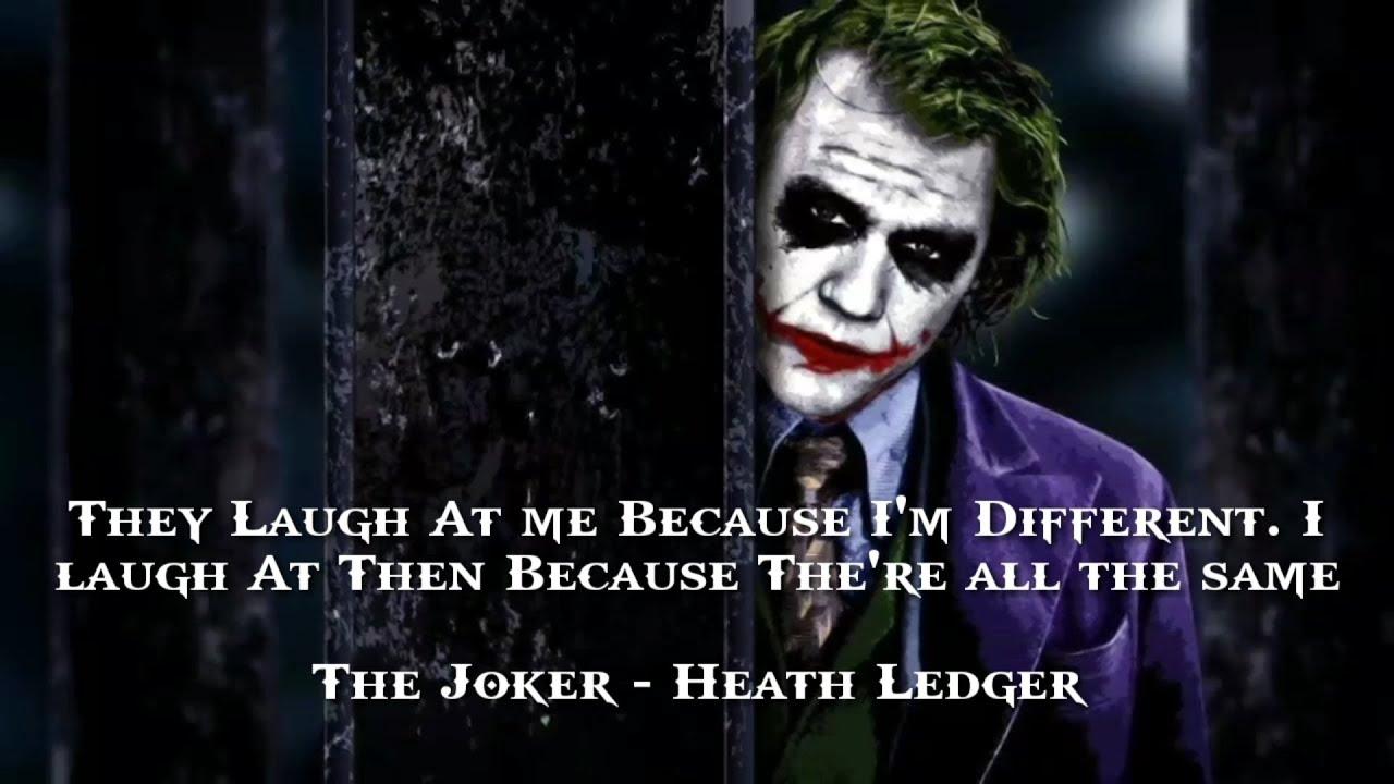 The Joker Heath Ledger Motivational Quotes Best Heath Ledger Inspirational Quotes Youtube