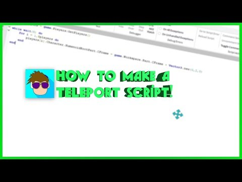 How To Make A Teleport Script In Roblox Youtube