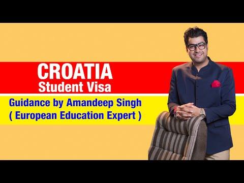 Croatia Student Visa Guidance by Amandeep Singh ( European Education Expert )