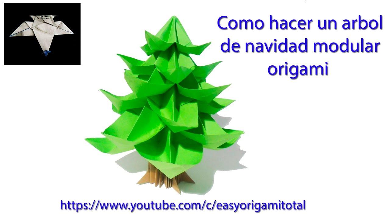 Como hacer un arbol de navidad modular how to make an - Arbol de navidad origami ...