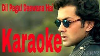 Dil Pagal Deewana Hai Ye Pyar Karega Karaoke - Barsaat ( 1995 ) Kumar Sanu