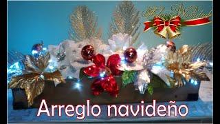 Arreglo Navideño/decoración Con Nochebuenas Artificiales