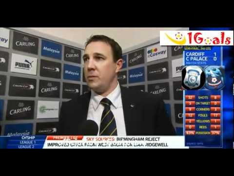 Cardiff vs Crystal Palace 1-0 [3-1 Pen.] Malky Mackay Post Match Interviews 24.1.2012 Carling Cup
