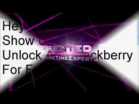 How To Unlock Your Blackberry For Free - YouTube