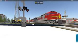 Santa Fe passing by Affton, MO | ROBLOX train video |