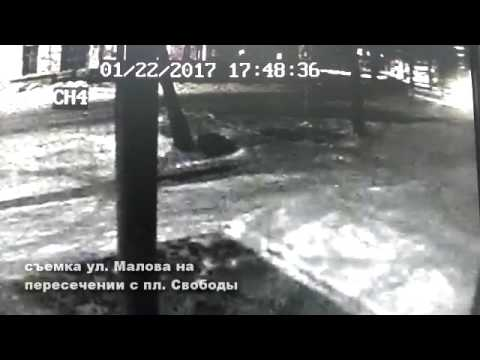 Видео с камеры наблюдения. г. Лысково, ул. Малова (22.01.17)