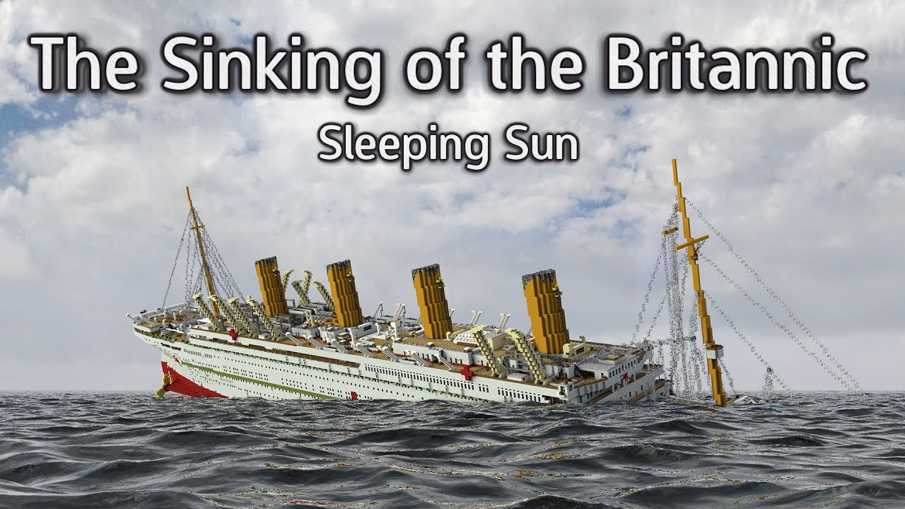 The Sinking Of The Britannic Minecraft Video Music Video Youtube