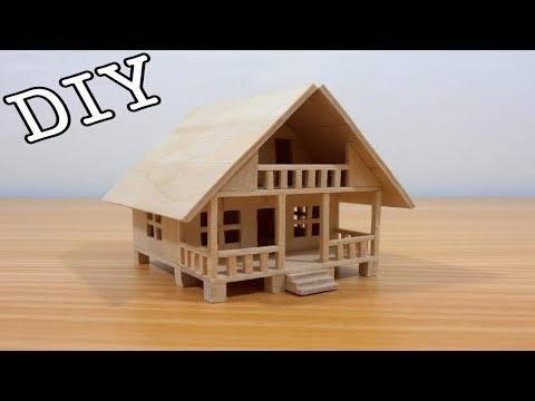 DIY Miniature House #23 (Popsicle Sticks)