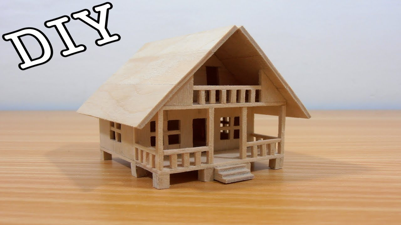 Diy Miniature House 23 Popsicle Sticks Youtube