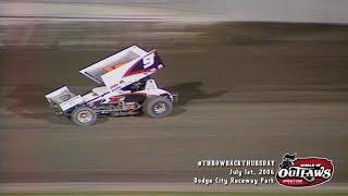 #ThrowbackThursday: World of Outlaws Sprint Cars Dodge City Raceway Park July 1st, 2006